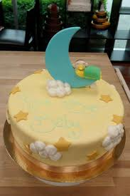 moon and stars baby shower cake by h0p31355 on deviantart