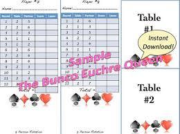 two table progressive tally euchre score card template free bridge score cards download bridge