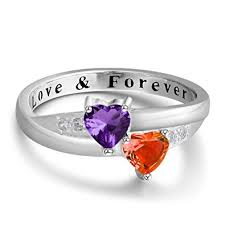 engagement rings for couples personalized forever engagement heart rings
