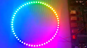 circular led light strip circular ws2812 rgb led strip quick test youtube