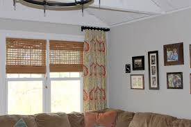 interior ceiling fan design ideas with matchstick blinds plus