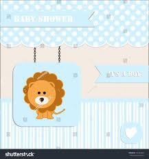 baby shower invitation baby boy polka stock vector 161883848