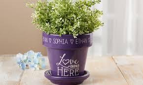 personalized flower pot personalized flower pot groupon