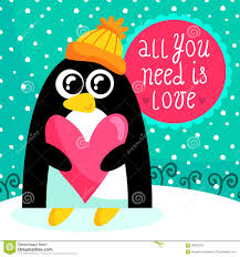 Cute Valentine Memes - st valentine s day card with cute penguin stock vector