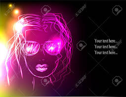 party sunglasses with lights in sunglasses neon lights concept of rest disco party