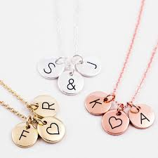 Necklaces With Initials Triple Letter Disc Necklace By J U0026s Jewellery Notonthehighstreet Com