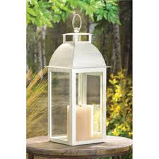 wholesale distressed style candle lantern antique ivory white