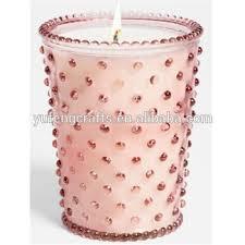 light pink votive candle holders light pink hobnail glass candle holder buy simpatico hobnail glass