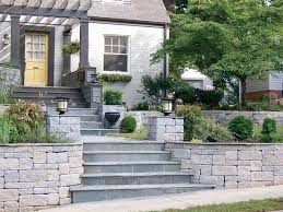 Retaining Wall Stairs Design Walls Create Curb Appeal Transformation