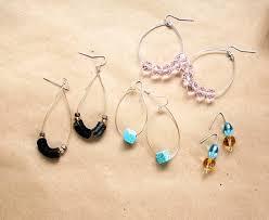 earrings diy diy earrings 3 ways in 5 minutes or less helloglow co