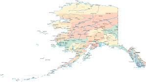 Usa Maps States by Map Of Alaska With Cities Town Road River United States Maps