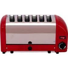 Duralit Toaster Dualit 60154 6 Slice Vario Toaster Red