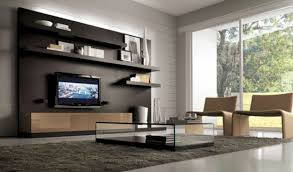 Traditional Tv Cabinet Designs For Living Room Round Black White Rug Varnished Wood Shelve Racks Living Room Tv