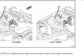 jeep liberty transmission module commander i need the specific locations of the transmission