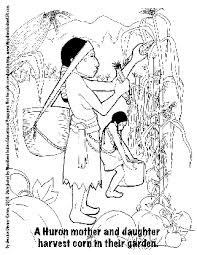woodland indian educational programs coloring pages