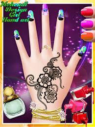 mehndi design girls hand art and free manicure and beauty salon