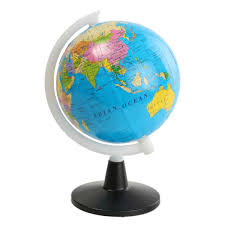 globe 8 5cm world globe atlas map with swivel stand geography