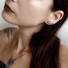 ear pin earrings minimalist ear pin earrings by mayahandmade mayahandmade