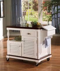 cherry kitchen island kitchen island white and cherry finish by coaster 910013