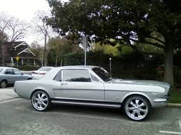 used mustang ta 1966 mustang with black pony interior and ralley wheels with