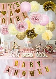 white and gold baby shower baby shower decorations baby shower it s a girl