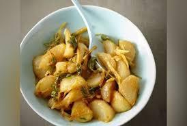 cuisiner navets nouveaux poêlée de navets caramélisés au miel et au gingembre recette