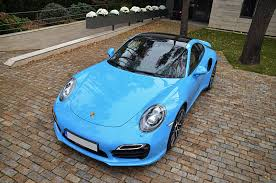 miami blue porsche turbo s porsche 991 turbo s with techart exhaust by elite motors youtube