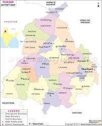 India Map Blank With States by Punjab District Map