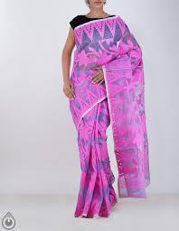 dhaka sarees casual violet dhaka cotton saree for online shopping unm19140