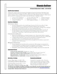 Resume Introduction Statement Sample Administrative Assistant Resume Objective Concise 2 Resume