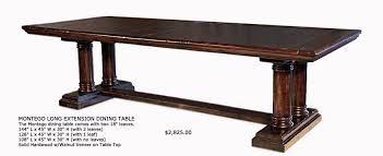 Dining Room Table Xlong Extra Long Tuscany Style Dining Tables - Long dining room table