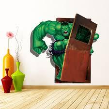 avengers home decor 3d viewhulk green giant bruce banner avengers art wall stickers