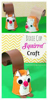 dixie cup squirrel craft kid u0027s arts and crafts for autumn fall