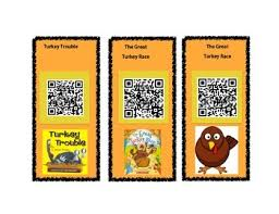 thanksgiving stories qr codes by the grade scholars tpt
