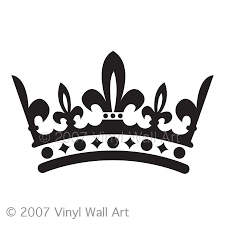 crown vinyl decal size large bedroom design office wall