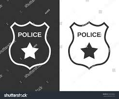 set police badge flat style stock vector 663049843 shutterstock