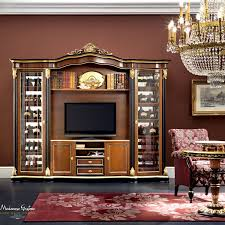 Italian Classic Furniture Living Room by Classic Tv Cabinet Solid Wood Bella Vita Modenese Gastone