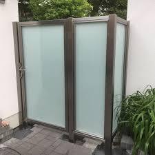 Trennwand Garten Glas Pflegeleichter Edelstahl Mit Glas Keine Ecken Und Kanten In