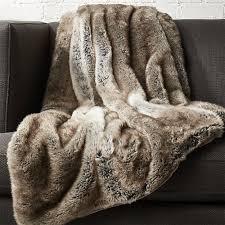 fur throws for sofas light grey faux fur throw reviews cb2
