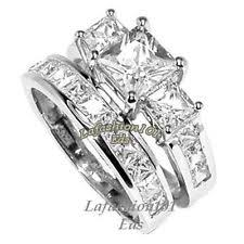 stainless steel wedding ring sets three engagement wedding ring sets ebay