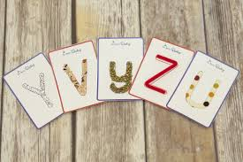 make your own tactile letter cards free downloadable templates