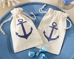 nautical gift bags nautical wedding favors