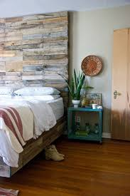 Wood Walls In Bedroom Bedroom Beige Bedroom With Reclaimed Wood Headboard Also White