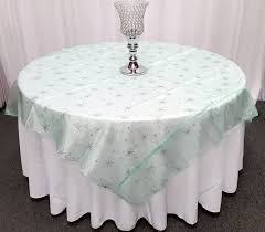 Lace Table Overlays Quality Organza Glitter Table Overlays