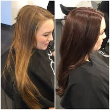 light to dark hair color transformation before and after hair
