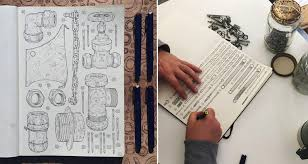his and items artist memorializes late grandfather by sketching the 100 000