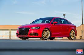slammed audi a3 perfect combo of red and gold audi a3 on custom wheels u2014 carid