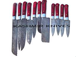damascus kitchen knives for sale custom hand made damascus steel kitchen knives set with steak