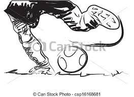 stock illustration of sketch legs football leg men art kick