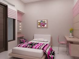 One Bedroom Design Ideas Small Picture On Plain Wall Paint And Single Bed Beside Desk